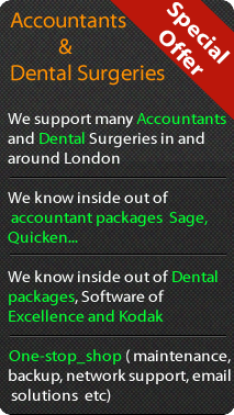 IT support for Accountants & Dental Surgeries